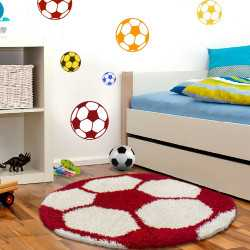 Fun Teppich Kinderteppich Kinderzimmer Fussball 6001 Red