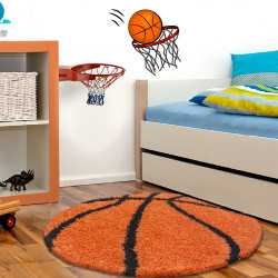 Fun Teppich Kinderteppich Kinderzimmer Baksetball 6002 Orange
